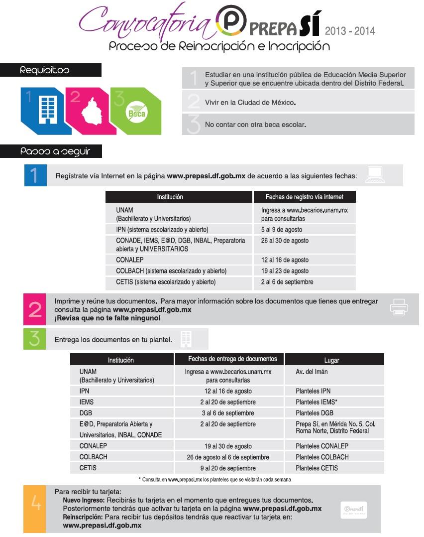 convocatoria prepa si 2013-2014